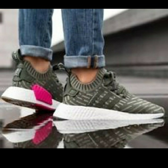 new style ae62d c42d7 1 left! Adidas-NMD_R2 Primeknit Shoes BY9953 Boutique